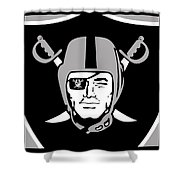 Oakland Raiders Shower Curtain by Tony Rubino