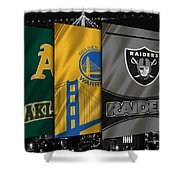 Oakland Sports Teams Shower Curtain