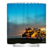 Oaks And Sunset 2 Shower Curtain by Terry Garvin