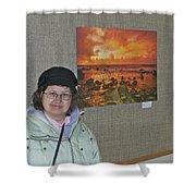 Oakwood Exhibit 2 Shower Curtain