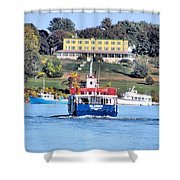 Oasis On The Ocean Shower Curtain