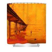 Ob Sunset Shower Curtain