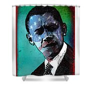 Obama-4 Shower Curtain