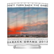 Obama Campaign Poster 2012 Shower Curtain by William Van Doren