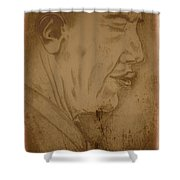 Obama Shower Curtain by Collin A Clarke
