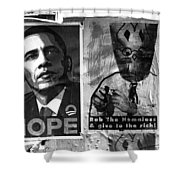 Obama Election Poster Shower Curtain