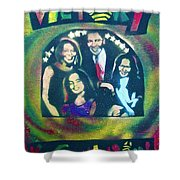 Obama Family Victory Shower Curtain