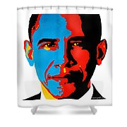 Obama Gouached Shower Curtain by Nancy Mergybrower