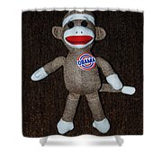 Obama Sock Monkey Shower Curtain