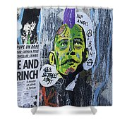 Obama The Grinch Shower Curtain