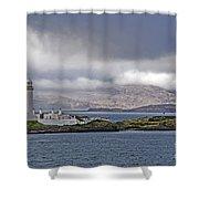 Oban Bay Lighthouse Shower Curtain