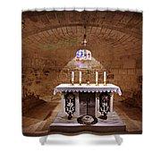 Obedience - The Church Of Saint Joseph's Carpentry Shower Curtain