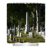 Obelisk And Headstones Shower Curtain