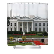 Obelisk And White House Shower Curtain