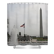 Obelsik And War Memorial Fountain Shower Curtain