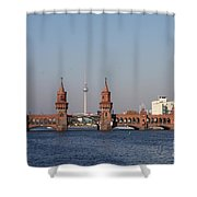 Oberbaum Bridge - Berlin Shower Curtain