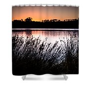 Obidos Lagoon Sunrise Shower Curtain