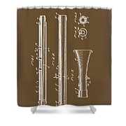 Oboe Patent 1931 Shower Curtain