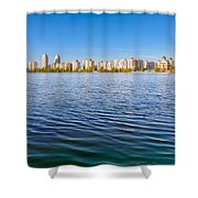 Obolon Skyline Close To The Dnieper River In Kiev Shower Curtain