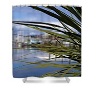 Obscured View Of Percival Landing Shower Curtain