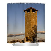 Observation Tower Shower Curtain