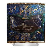 Observatory Life By Alfredo Garcia Shower Curtain