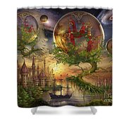 Observer Trees Shower Curtain