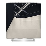 Obsession Sails 4 Black And White Shower Curtain