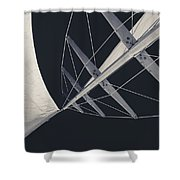 Obsession Sails 7 Black And White Shower Curtain