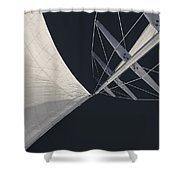 Obsession Sails 8 Black And White Shower Curtain