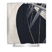 Obsession Sails 9 Black And White Shower Curtain