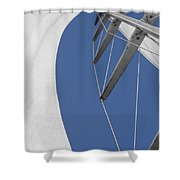 Obsession Sails 9 Shower Curtain