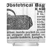Obstetrical Bag, C1900 Shower Curtain