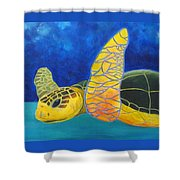 Obx Turtle Shower Curtain
