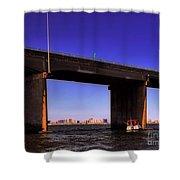 O.c. Bridge N Skyline Shower Curtain