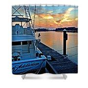 Ocean Addiction Sunset Shower Curtain