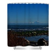 Ocean And Mountains Shower Curtain