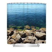 Ocean And Rocks Shower Curtain
