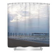 Ocean City At The  59th Street Pier Shower Curtain