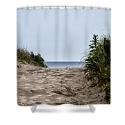 Ocean City Beach Shower Curtain