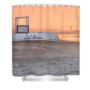 Ocean City Beach Patrol Shower Curtain