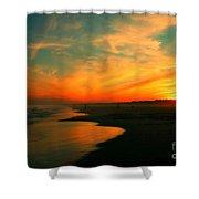 Ocean City Nj Sunset Shower Curtain