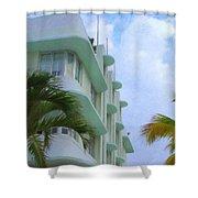 Ocean Drive Hotel Shower Curtain