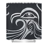 Ocean Eagle Eye Shower Curtain