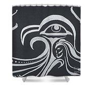 Ocean Eagle Eye Shower Curtain by A Cyaltsa Finkbonner