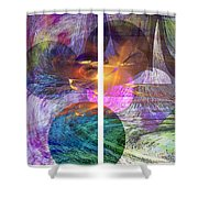 Ocean Fire - Square Version Shower Curtain