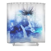 Ocean Floor Abstract Shower Curtain