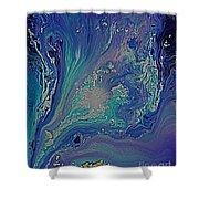 Ocean Flow Energy Shower Curtain