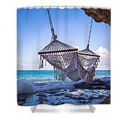 Ocean Front Hammock Shower Curtain
