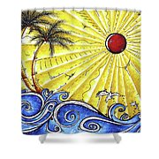 Ocean Fury By Madart Shower Curtain